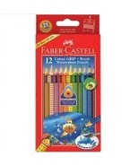 Faber-castell Highly Soluble Triangular Water Colour Pencils for Age 8+ ... - $16.15