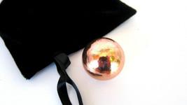 Copper Orb Sphere Marble 30mm Velvet Pouch Pain Healing Love Good Luck H... - $16.82