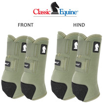 Classic Equine Horse Sports Front Rear Hind Boots 4 pack Legacy2 Olive U-02OL - $173.98