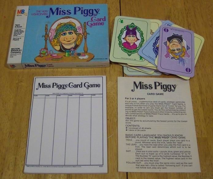 Primary image for 1980 MUPPETS The Very Fashionable MISS PIGGY CARD GAME Milton Bradley