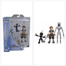 Kingdom Hearts Figures Set 3Pcs Sora Dusk Soldier W/ Accessories Action ... - $25.84