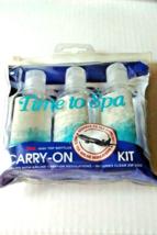 Plastic Bottles 3oz Travel Assorted Clear Zip Pouch Storage TSA One (3) ... - $6.95