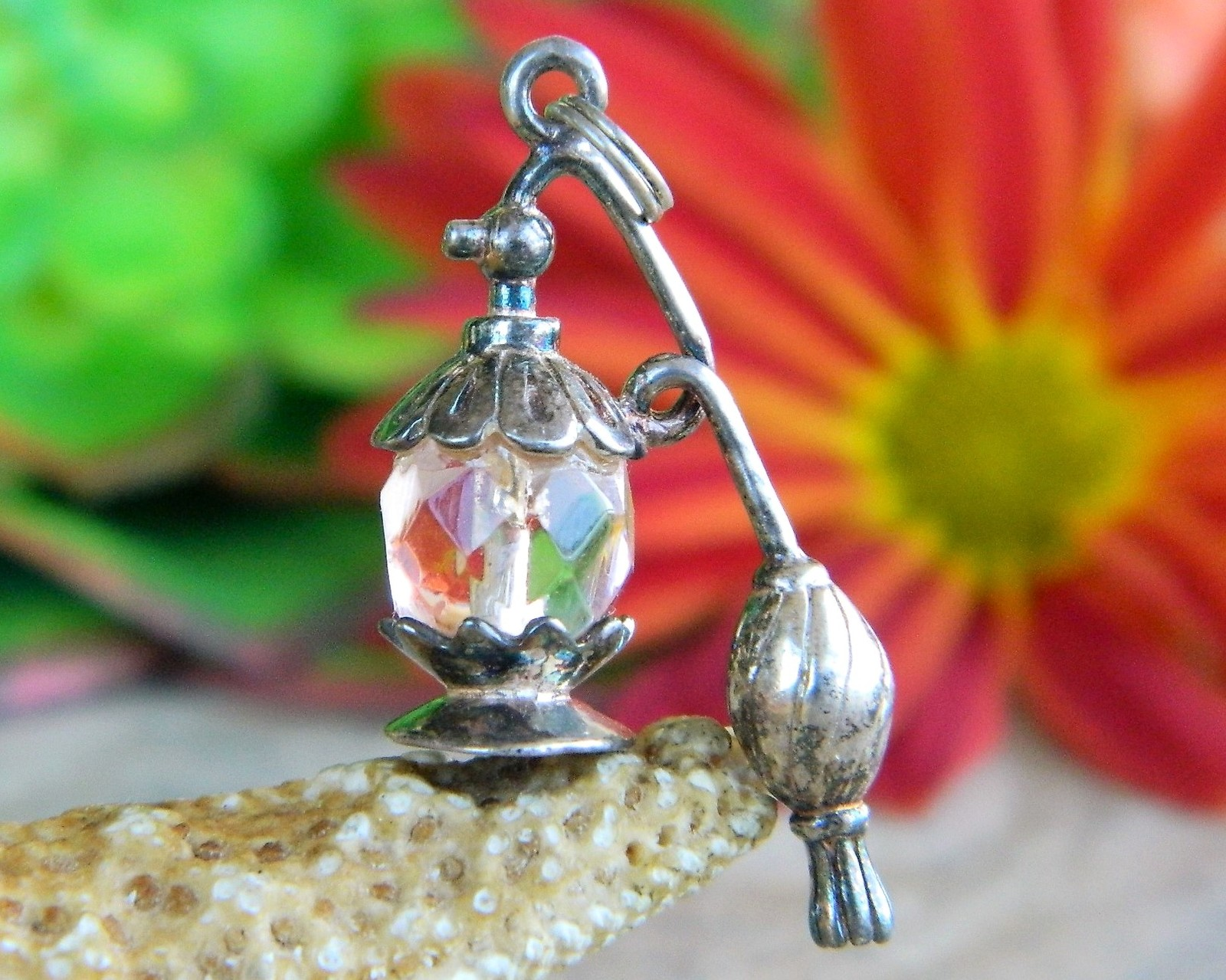 Primary image for Vintage Perfume Bottle Bracelet Charm Spray Atomizer Sterling Silver