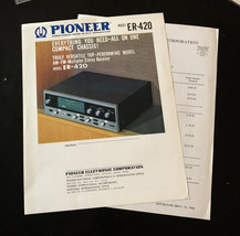 1966 Pioneer ER-420 Receiver Spec Sheet With Price List - $16.35