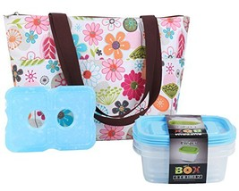 Lunch Bag Set by Dimayar Lunch Tote with Ice Pack and 3 Pieces of Lunch ... - $15.23