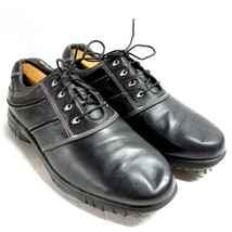FootJoy DryJoys Contour Series Leather Spiked Golf Shoes Mens 9 Wide Black 54221 - $39.99