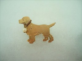Vintage Stamped Brass Spaniel Setter Dog Pin  - $10.00