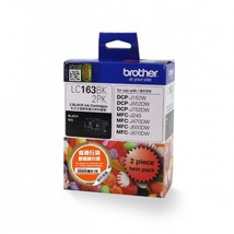 Brother LC163BK High Ink Cartridges (Twin Pack) (for J470DW/J650DW/J870DW), Blac - $59.99