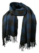 WeSC Unisex Odin Dark Blue Brown Woven Acrylic Winter Scarf Shawl B40593... - $24.98