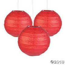 Mini Red Hanging Paper Lanterns - £7.79 GBP