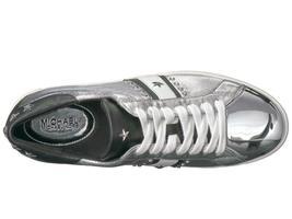 Michael Kors MK Women's Frankie Stripe Leather Sneakers Shoes Silver image 3