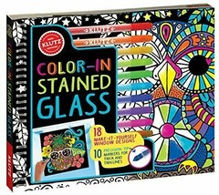 Klutz Color-in Stained Glass: 18 Make-it-Yourself Window Designs - $19.95