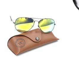 Ray Ban RB 3026 Aviator Metal Sunglasses, Black   Gold Mirror. 62-14 fc562141ab