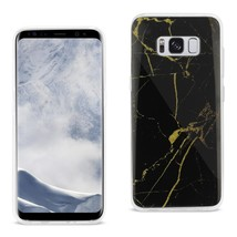 Reiko Samsung Galaxy S8 Edge/ S8 Plus Streak Marble iPhone Cover In Black - $8.86