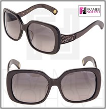 Marc Jacobs Brown Crystal Rock Square MJ457/F/S Fashion Sunglasses 457 ASIAN FIT - $211.17