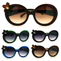 Cute Flower Charm Girly Thick Plastic Oval Round Sunglasses - $7.95