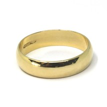 SOLID 18K YELLOW BAND GOLD RING, BIG 5.5 THICKNESS, FLAT, SMOOTH, MADE IN ITALY image 1