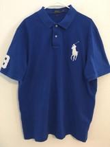 Polo Ralph Lauren Royal Blue Tag Big White Pony Men's Size XL TG Classic Fit  - $44.65