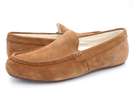 Vionic Mens 11.5 Chestnut Tompkin 10010142 Suede Slip On Moccasin Slippers  - $69.99