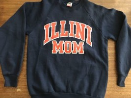 Illini Mom Vintage Sweatshirt Large Made In USA Vintage Fruit Of Loom - $21.38