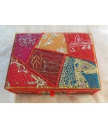 Hand Embroidered Multi-colored Sequin Jewelry Box Made in India - $52.46