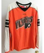 Vintage Philadelphia Flyers Hartnell Shirt Long Sleeve NHL Reebok size L - $40.00