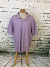 Izod Mens Sz 2XL Shirt Purple Short Sleeve The Advantage Polo Golf Cotto... - $14.84