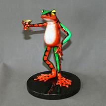 BRONZE MARTINI FROG SCULPTURE FIGURINE STATUE  ART Amphibian Signed Numb... - £1,263.88 GBP