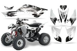 Atv Graphics Kit Sticker Decal For Honda Trx 400EX 2008-2010 CARBON-X White - $169.95