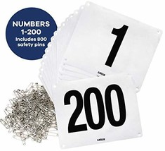 Clinch Star Running Bib Large Numbers with Safety Pins for Marathon Race... - $53.08