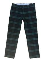 RALPH LAUREN Blackwatch Tartan Navy Green Plaid Chino Golf Pants 34 x 34 - $79.00