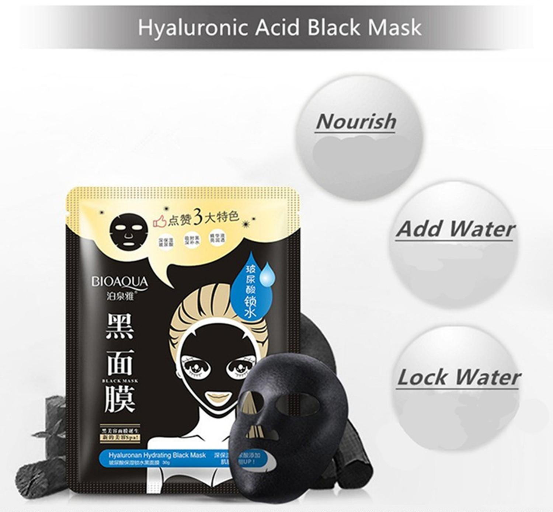 Hyaluronic Acid Moisturizing Facial Black Mask
