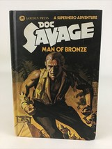 Doc Savage Man Of Bronze Hardcover Book 1 Golden Press Robeson Vintage 1975 - $24.70