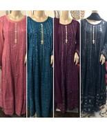 Pakistani Chicken Kari Long Maxi Dress with Chiffon Dupata, different op... - $150.00