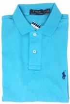 Polo Ralph Lauren Mens Medium Fit Interlock Polo Shirt XL TRUE AQUA NEW NWT - $49.99