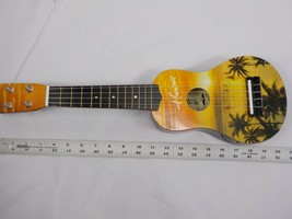 SUNSET 20in UKULELE BEGINNER HAND PAINTED SAILBOATS PALM TREES HAWAII NIB - $25.99