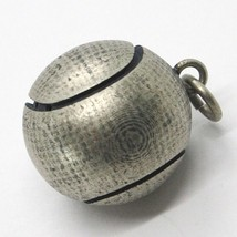 Silver Pendant 925, Burnished and Satin,Ball from Tennis image 2