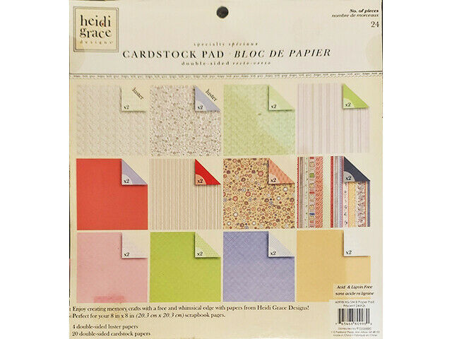 Heidi Grace 8x8 Inch Specialty Cardstock Pad, 20 Sheets #60998