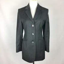 Vitale Barberis Canonico Super 110's Italian Wool Blazer Womens Sz 4 Gray  - $44.50