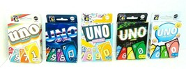 NEW Mattel UNO Retro Version Family Card Game Complete Set of 5 Series #1-5 - $24.14