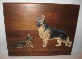 "Great 13"" X 16"" German Shepherd Dogs Wall Hanging Plaque Dimensional - $48.19"