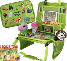 Kids Travel Tray & Lap Desk for Kids, Detachable Tablet Holder, Car Seat Travel