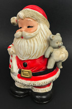 Vintage Santa Claus Coin Piggy Bank #5610 Christmas Homco Made Taiwan - $12.56