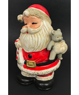 Vintage Santa Claus Coin Piggy Bank #5610 Christmas Homco Made Taiwan - €16,78 EUR