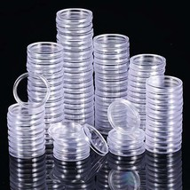 25 mm Coin Holder Capsules Clear Round Plastic Coin Container Case for (... - $20.22