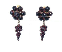 Genuine Natural Bohemian Garnet Earrings (#5289) - $544.50