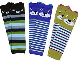 0-3 Years Baby Socks Baby Leggings Comfy Leg Guards,3 Sets (Random Style)