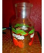 Orange Juice Pitcher Carafe Decanter Anchor Hocking Vintage USA - $17.81