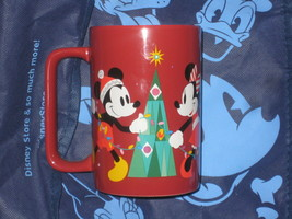 Disney Mickey Mouse, Minnie Mouse and Pluto Xmas Holiday Coffee Cup. Bra... - $24.75
