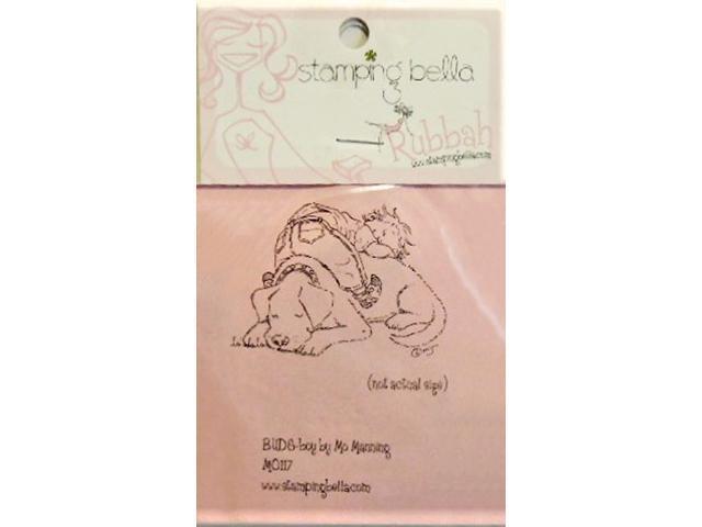 Stamping Bella Buds-Boy Unmounted Rubber Stamp #MO117